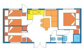 Mobilheim mit vier Zimmer am Gardasee: Das Feriendorf mit Mobilheimen für Familien in Peschiera del Garda | Camping Bella Italia