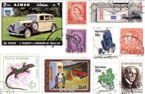 Just love the Ajman stamp . . .