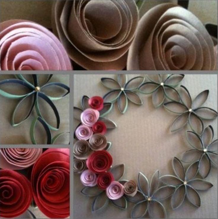 Paper Roll Flower Wreath