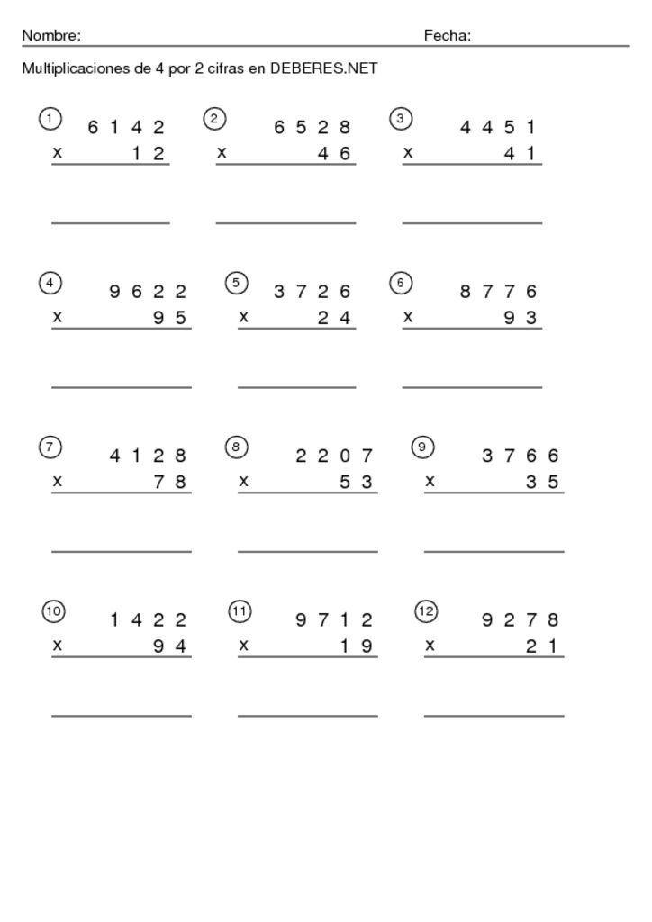 Thumbnail Of Multiplicaciones De 4 Por 2 Cifras 9 Multiplicacion Fichas Clase De Matemáticas