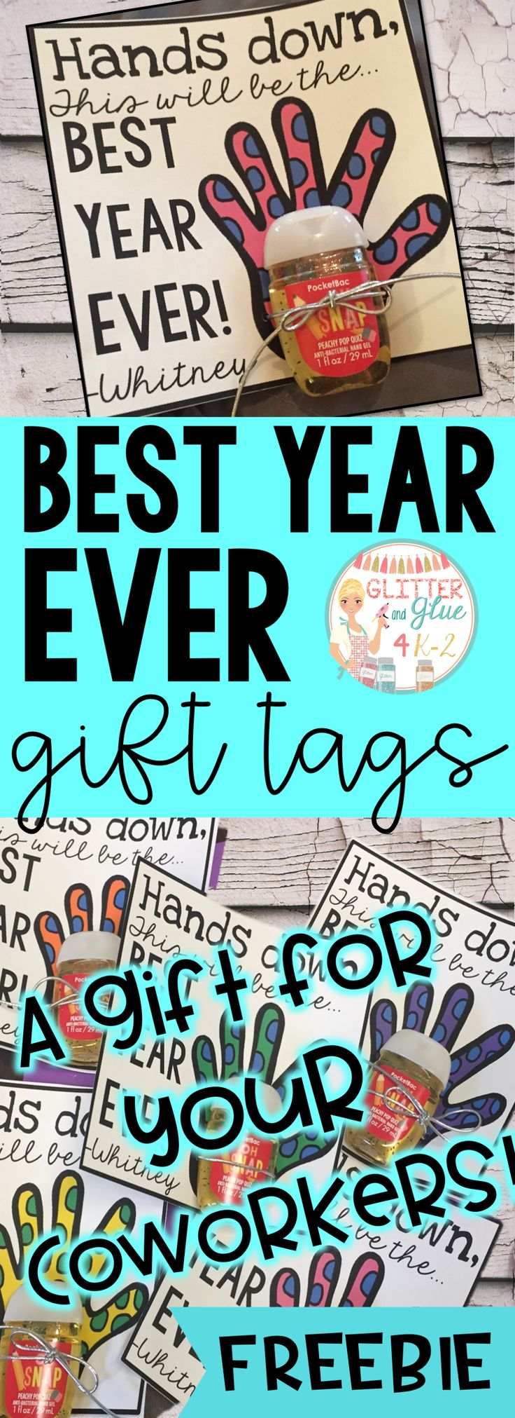 Looking for a cute, free, and easy gift for your colleagues and teacher friends? Check out these simple and editable printables.Perfect for back to school! Keywords: teachers, back to school, meet the teacher, gift tags, free gifts, open house