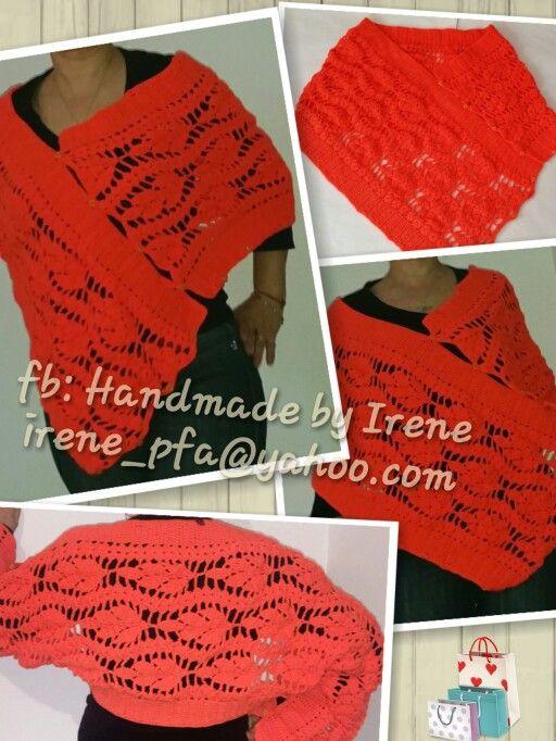 Crochet 3 in 1 bolero poncho cape