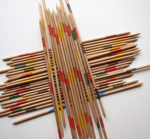 retro wood pick up sticks
