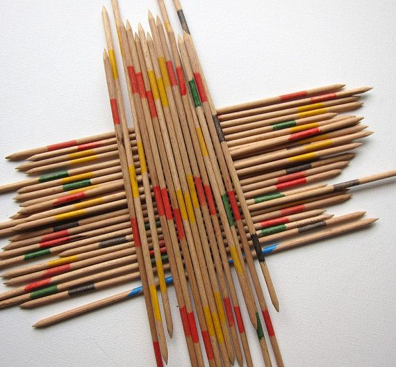 retro wood pick up sticks