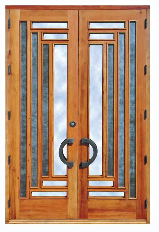 Wooden Frame Glass And Metal Modern Indoor Door Design. Www.covalhomes.com
