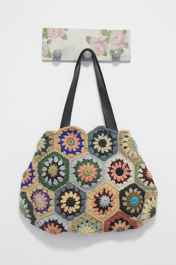 Hexagon Crochet Bag Pattern : Crochet Bags