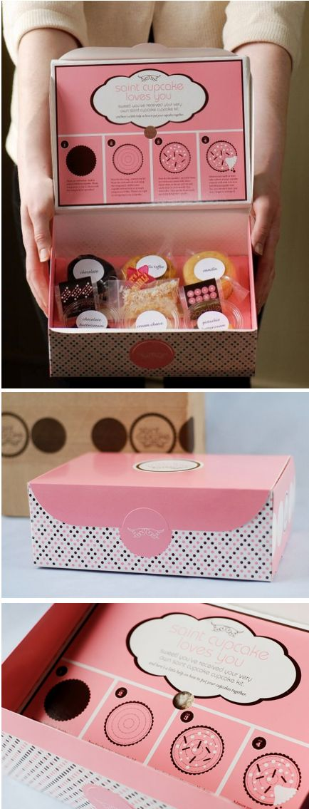 Cupcake overkill has given me a high resistance but this is such a cute packaging idea that it's got through the radar...