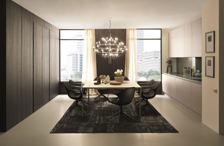 Depiction of Get Simple Look With Black Dining Room Sets