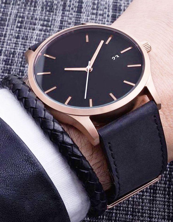 modern essential // watches // rose gold // mens fashion // menswear // urban men // city life //