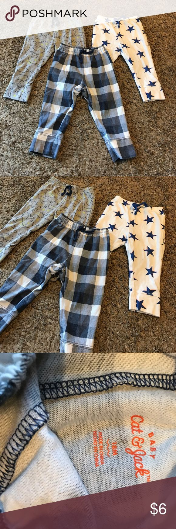 Baby boy pajama pants size 18 months Baby boy pajama pants size 18 months. Cat & Jack brand. 3 pairs. Cat & Jack Pajamas Pajama Bottoms