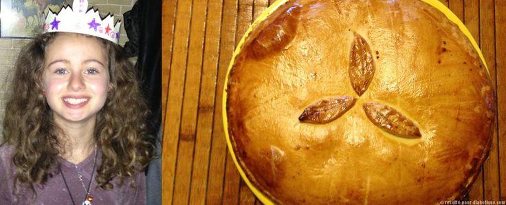 Une galette des rois sans sucre ajouté avec une frangipane sans beurre.... pour convenir à tous les diabétiques.