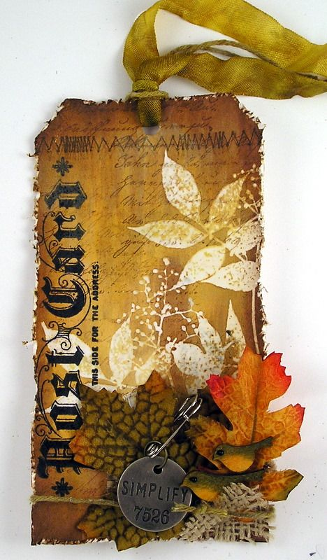 Suzz's Stamping Spot: Leaf and Sprig Resist