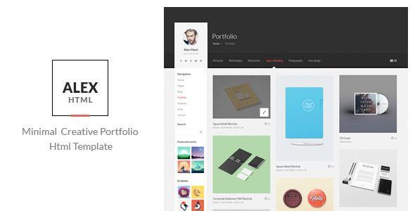 Alex - Minimal Creative Portfolio Html Template - Portfolio Creative
