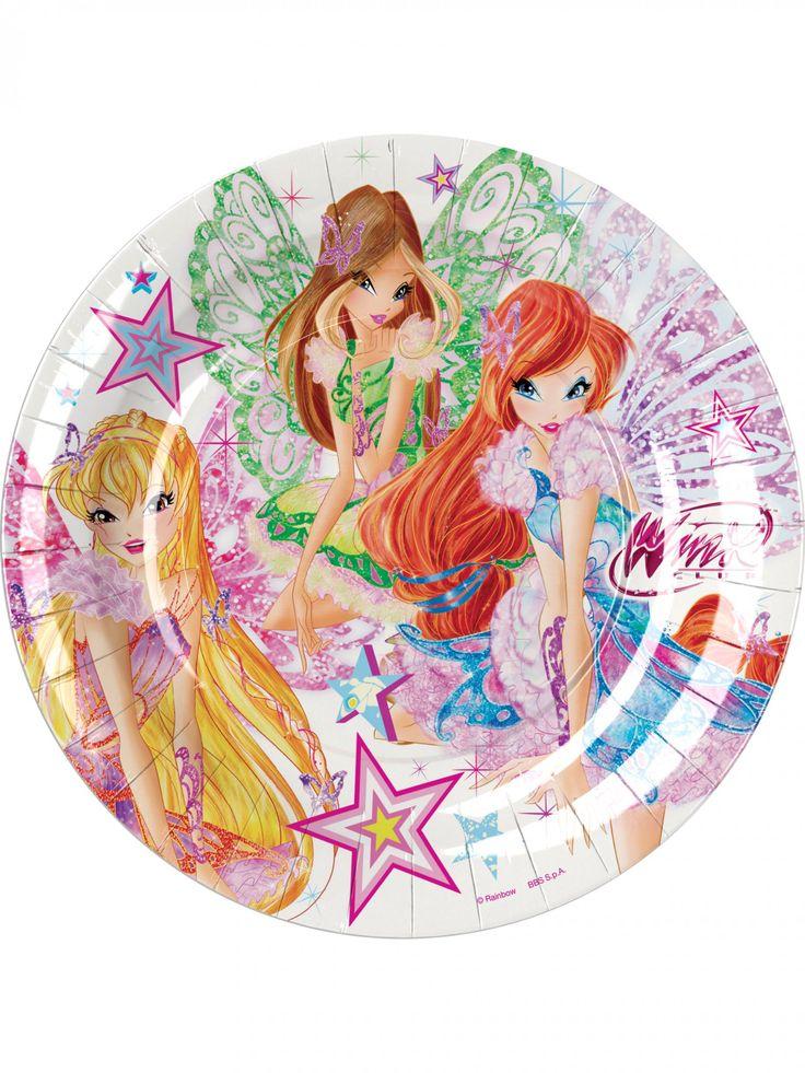 8 piatti di cartone Winx Butterflix™ 23 cm su VegaooParty, negozio di articoli per feste. Scopri il maggior catalogo di addobbi e decorazioni per feste del web,  sempre al miglior prezzo!