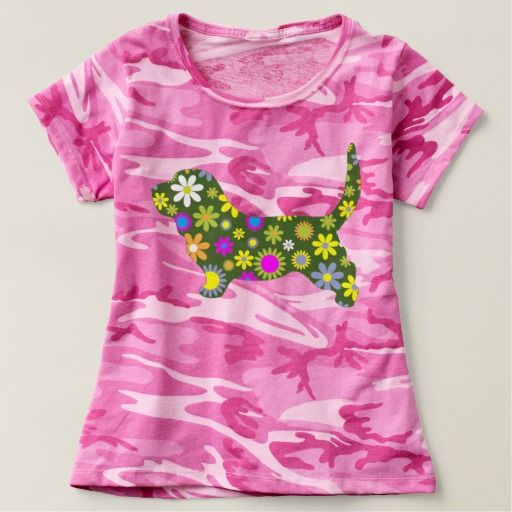 Women's Camouflage  pink T-Shirtwith retro floral Tees