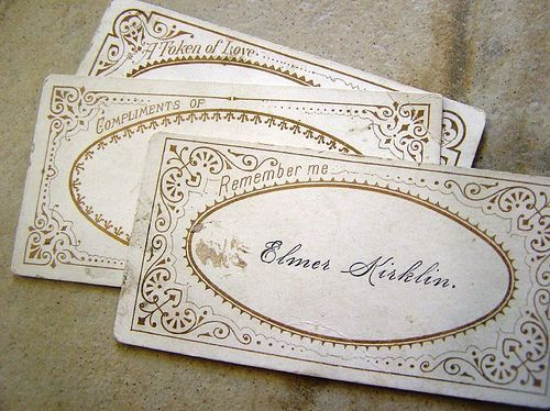 "The history and meaning of the ""calling card."" This is very enlightening – no wonder people in books and movies in the Victorian era spent so much time visiting one another! ;-)"