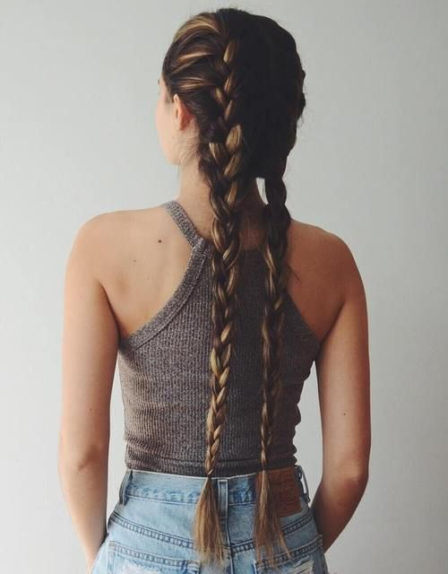 2 french braids…