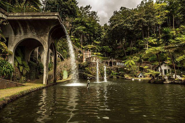 Central Lake at Monte Tropical Garden, Funchal, Madeira