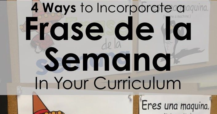 Incorporating a Frase de la Semana  is a great way to introduce students to fun, useful Spanish terms that they may not get much ...