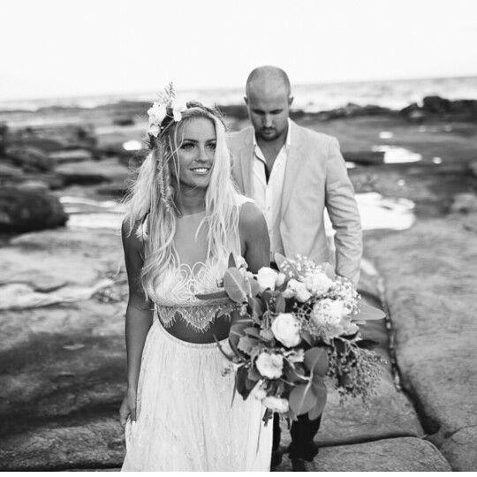 Beautiful grace loves lace wedding dress. Avril dress. Lace wedding dress. Coastal wedding Coastal wedding. Sunshine coast. Flowers by caloundra florist and suncoast flowers. Two piece wedding dress.