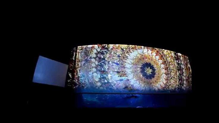 新江ノ島水族館10周年記念にて、2014年7月20日の17時より行われているナイトアクアリウム。今話題のプロジェクションマッピングで大水槽を彩りました!