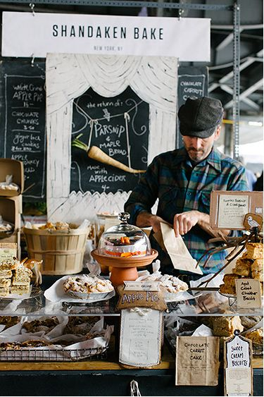 YES! A perfectly messing, delicious cake and baked goods counter - bliss!     Shandaken Bake | New Amsterdam Market, New York