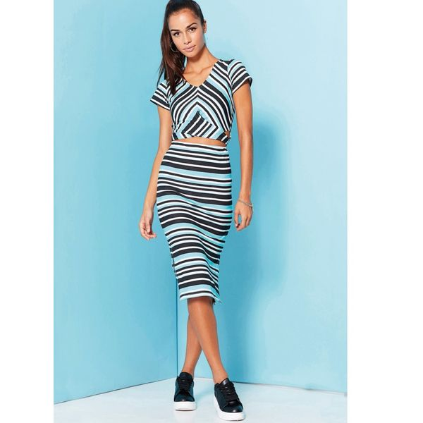 Produkty :: ŽENY :: Oblečenie :: Sukne :: VENCA Dlhá pruhovaná sukňa pruhované - Produkty