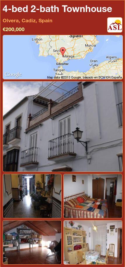 4-bed 2-bath Townhouse in Olvera, Cadiz, Spain ►€200,000 #PropertyForSaleInSpain