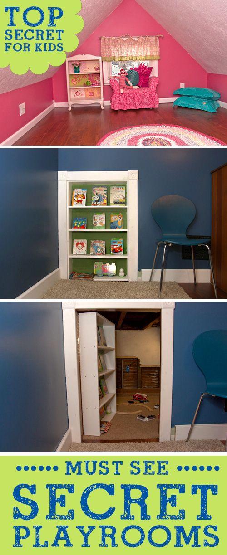 Super Fun Secret Hidden Kids Playrooms! LivingLocurto.com