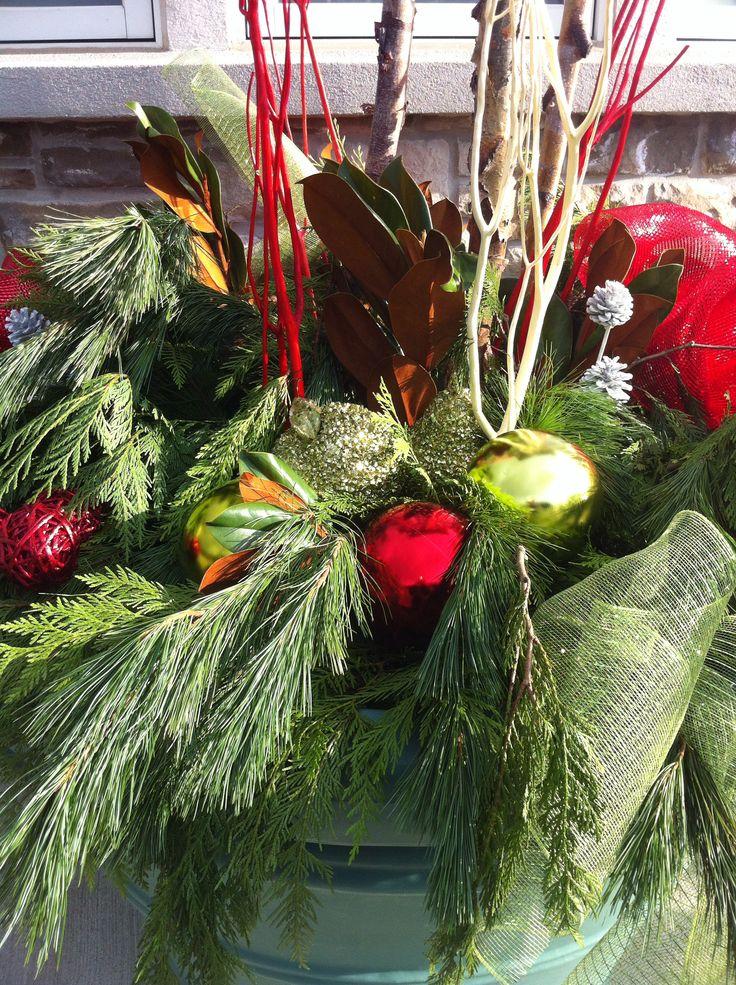 Christmas customized urn Decor by FRANCESCA Designs