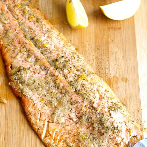 This is a fast, easy and flavorful recipe that will make it seem as though  you have been working on this all day long.    Lemon Baked Trout  Ingredients:  •Olive or canola oil cooking spray  •4 4-ounce trout filets,  •with skin  •Sea salt  •Freshly ground black pepper  •2 to 3 lemons  1/2 tsp of marjoram  1/2 tsp of thyme  •Directions:  Set rack in center of oven. Preheat oven to 425 degrees. Or if using a  preheat gas or charcoal grill to medium-hot and prepare for cooking with…