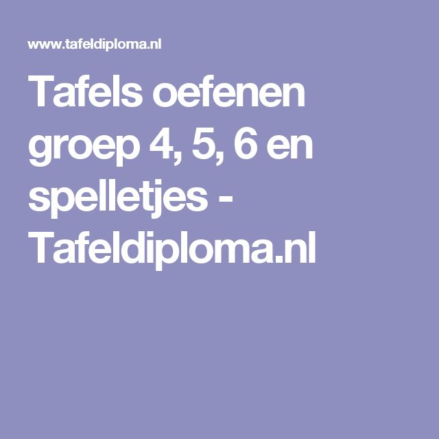 283 best rekenen tafels images on pinterest for Www tafel oefenen nl