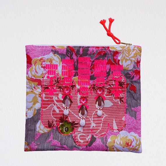 NEON pink and red floral patterned Statement by dAKOTArAEdUST