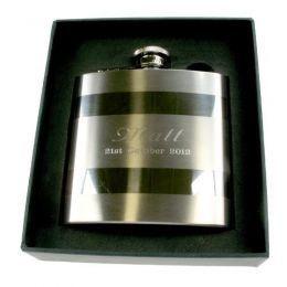 Personalised Satin Steel Hip Flask