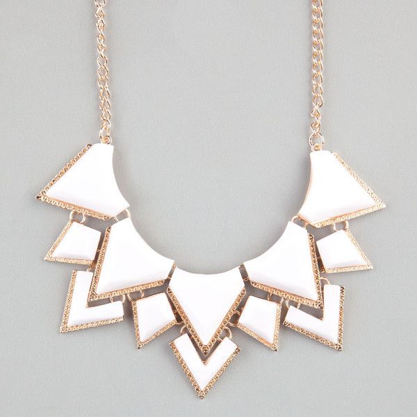 FULL TILT Facet Triangle Statement Necklace ❤ liked on Polyvore featuring jewelry, necklaces, accessories, faceted necklace, triangle jewelry, facet jewelry, statement necklaces and full tilt