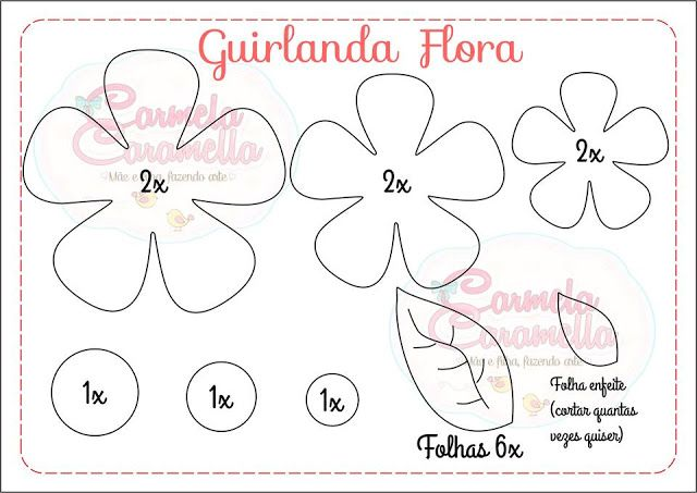 Carmela Caramella : Moldes - Guirlanda