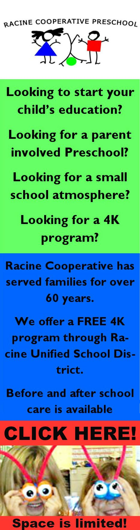 Are you l@@king? Click here for more info about Racine Cooperative Preschool!   #preschool #4K