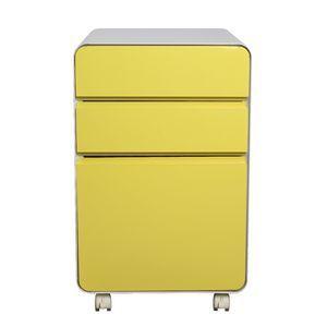 Venturo 3 Drawer Pedestal Yellow