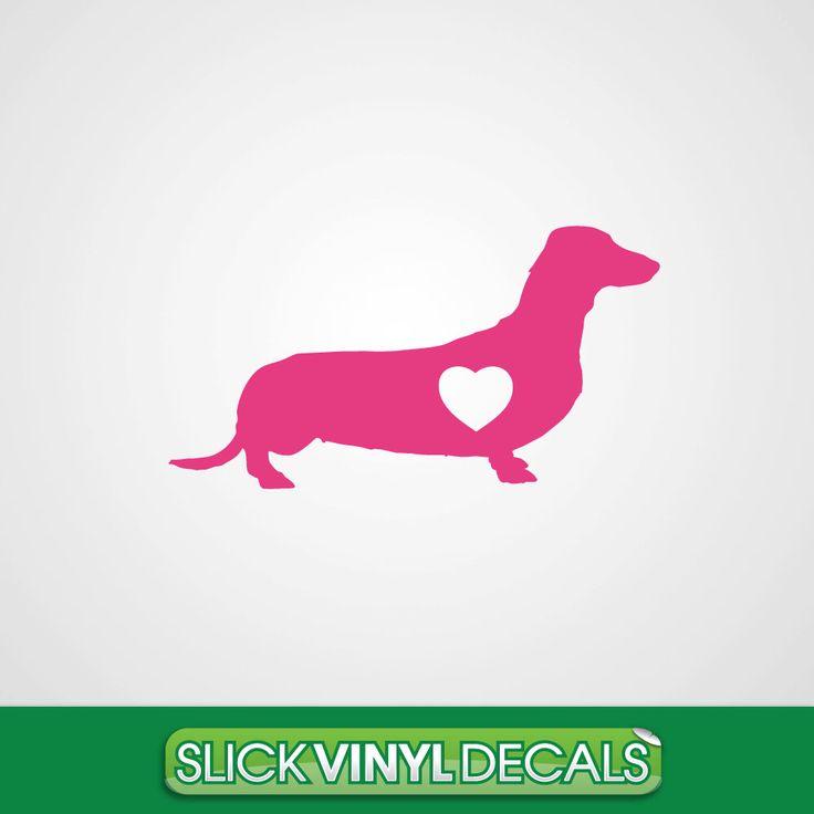 Dachshund Dog Decal - Car Decal - Sticker - Vinyl - Wiener Dog - I Love My Dachshund - Dotson - Dog Breed - Dogs - Dachshunds by SlickVinylDecals on Etsy https://www.etsy.com/listing/204273906/dachshund-dog-decal-car-decal-sticker