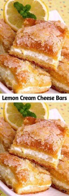 Zitronen-Frischkäse-Riegel sind eine Variation der traditionellen Zitronen-Riegel, …   – Natalie Recipes