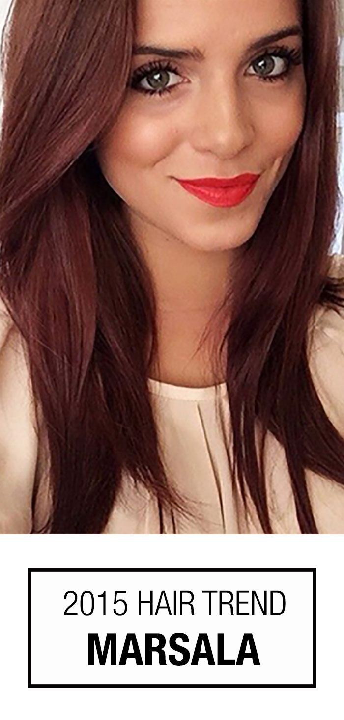 2015 Color of the Year is Marsala! Check out how this trend shows itself with this gorgeous reddish brown hair color | thebeautyspotqld.com.au