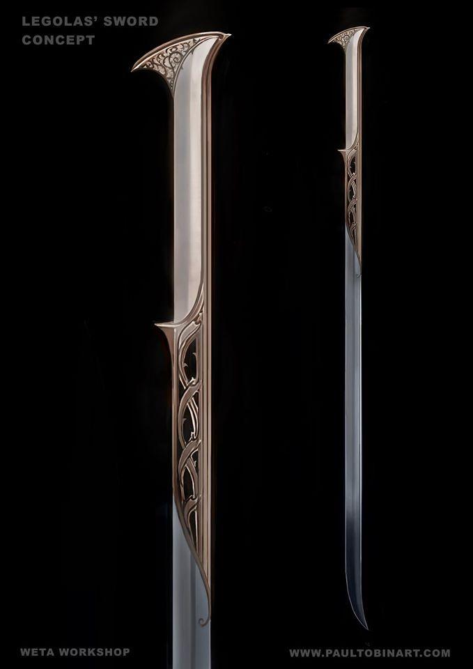 Legolas' sword concept from the Hobbit