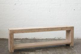 mardi bench. sandblasted oregon