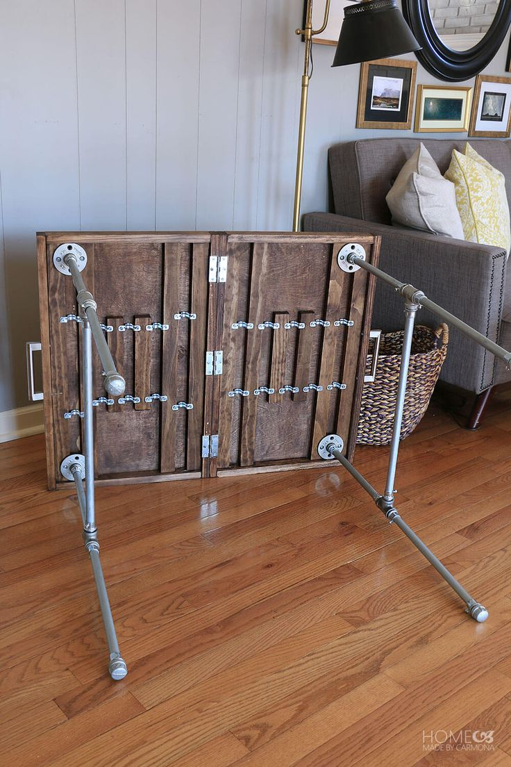 Learn how to make this stylish industrial folding table for your next big party. This isn't your ordinary folding table, show off your team colors in style!