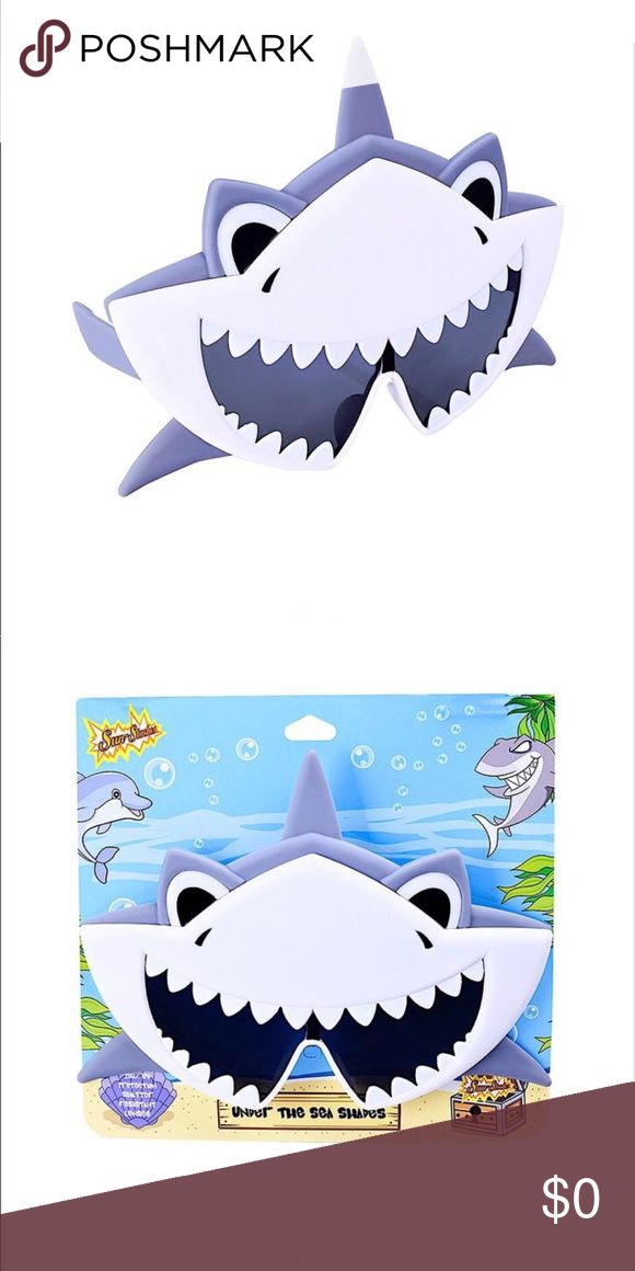 Shark Sun-staches Brand New Sunglasses 🦈 Brand New Shark Sunglasses by Sun-staches!  All Sun-Staches provide 100% UV400 Sun-staches Accessories Sunglasses