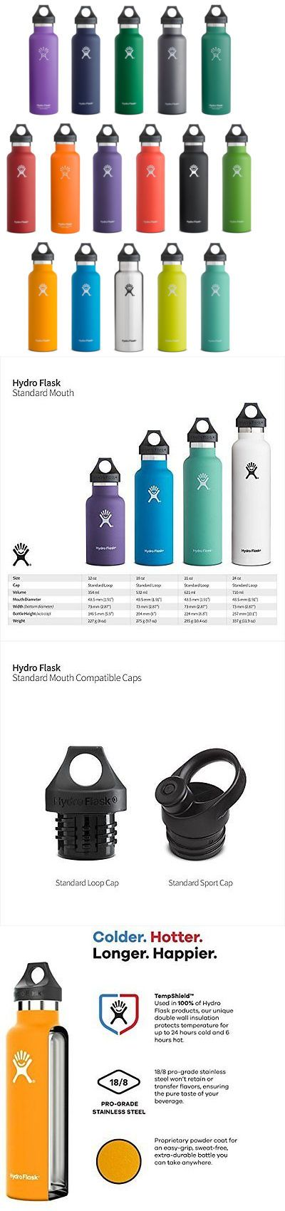 Canteens bottles and flasks 181408 hydro flask stainless steel bottle standard mouth w