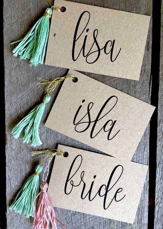 Wedding place cards Wedding Name Tags Place by LaPommeEtLaPipe