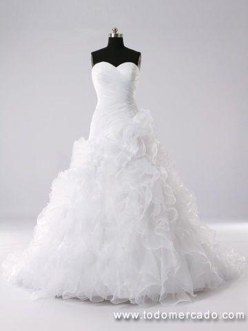 Vestido de novia corte A tipo flamenco Viña Del Mar Viña Del Mar