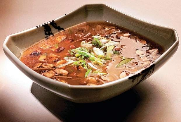 Double mushroom soup with soba noodles. 6 C water 4 oz dried buckwheat ...