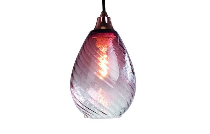 This vibrant pendant is the perfect balance of gradient colour and transparency